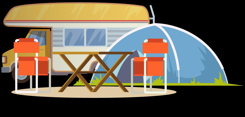 Camp Dvor tent illustration